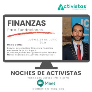 crear fundacion finanzas evento