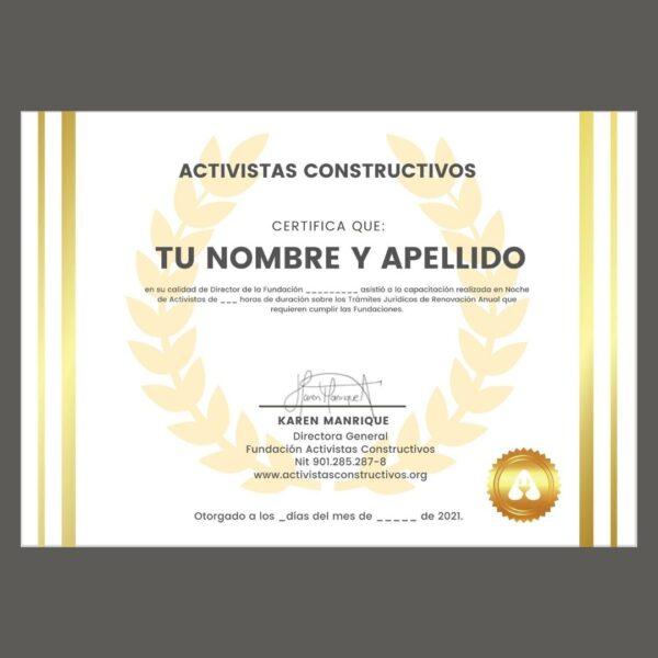 crear fundacion certificado